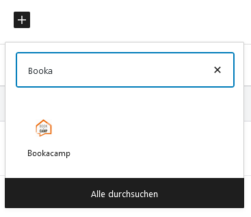 screenshot wordpress add block
